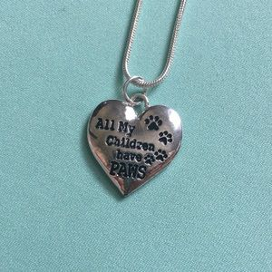 NWOT Necklace with Heart-Shaped Pendant